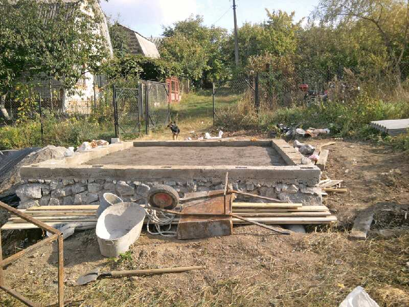 Фундамент под дачный дом своими руками